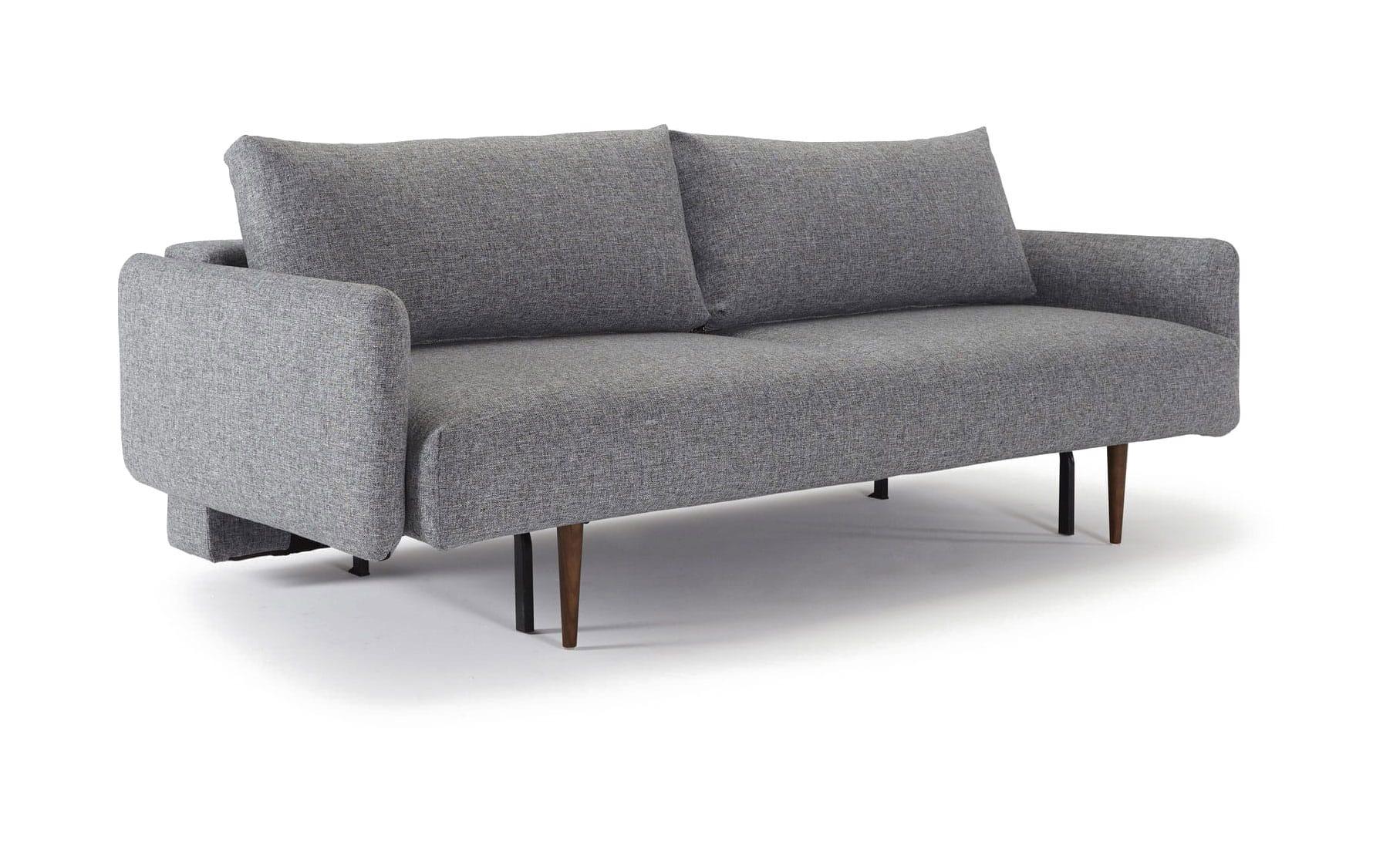 Pleasant Frode Sofa W Walnut Arms Twist Granite By Innovation Inzonedesignstudio Interior Chair Design Inzonedesignstudiocom