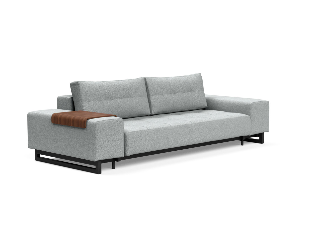 Picture of: Grand Deluxe Excess Sofa Bed Queen Size Melange Light Gray By Innovation